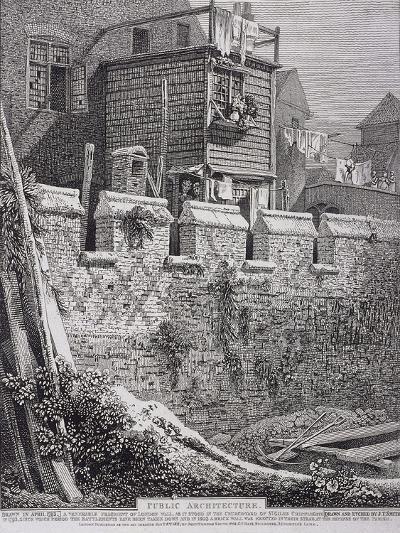 St Giles Without Cripplegate, London, 1812-John Thomas Smith-Giclee Print