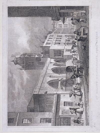 St Giles Without Cripplegate, London, 1830-W Henshall-Giclee Print