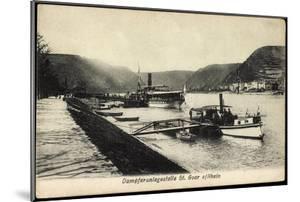 St. Goar Am Rhein, Dampfer St. Goarshausen, Anlege