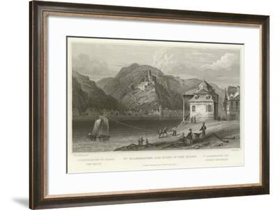 St Goarshausen and Ruins of the Katze-William Tombleson-Framed Giclee Print