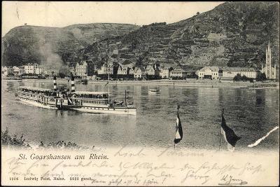 St Goarshausen, Rheinblick Mit Dampfer Wilhelm--Giclee Print
