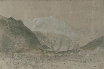St Gothard and Mont Blanc Sketchbook [Finberg LXXV], Mont Blanc, from Sallanches-J^ M^ W^ Turner-Giclee Print