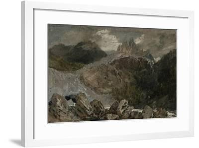 St Gothard and Mont Blanc Sketchbook [Finberg LXXV], the Source of the Arveyron-J^ M^ W^ Turner-Framed Giclee Print