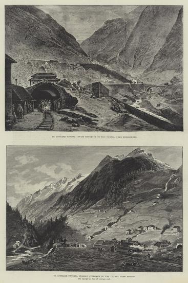 St Gothard Tunnel--Giclee Print