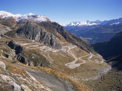 St. Gotthard Pass, with First Autumn Snow on the Mountains, in Ticino, Switzerland-Richard Ashworth-Photographic Print