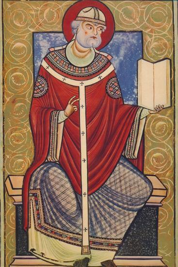 'St. Gregory The Great, 12th century, (1939)-Unknown-Giclee Print