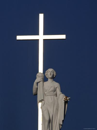 St Helen Holding a Golden Cross on Top of Vinius Cathedral-Bruce Bi-Photographic Print