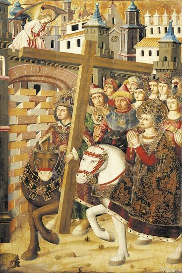 St Helena and Emperor Heraclitus with Holy Cross at Gates of Jerusalem-Miguel Jimenez-Giclee Print