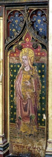 St. Helena, Detail of the Rood Screen, St. Agnes Church, Cawston, Norfolk, Uk--Giclee Print