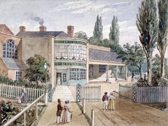 St Helena Tea Gardens, Lower Road, Rotherhithe, London, C1860--Giclee Print