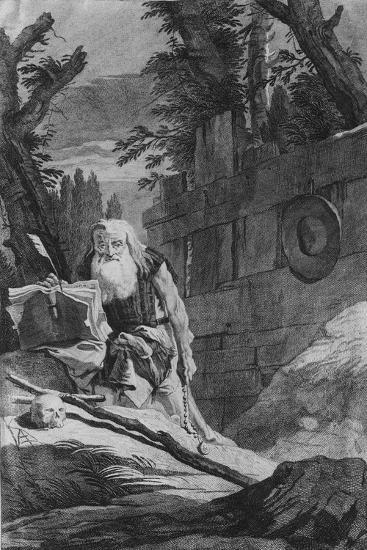 St Hilarion-Giovanni Battista Tiepolo-Giclee Print