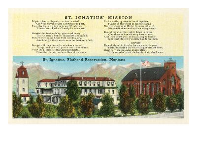 St. Ignatius Mission, Montana--Art Print