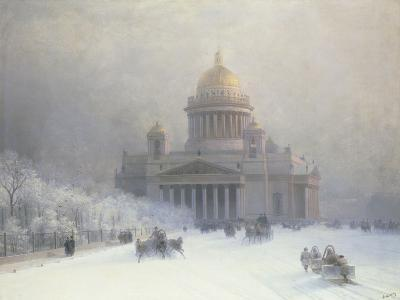 St Isaac's Cathedral, St Petersburg-Ivan Konstantinovich Aivazovsky-Giclee Print