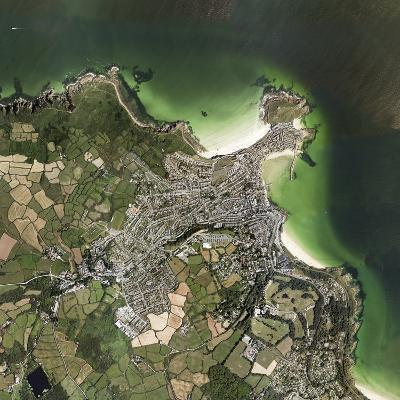 St Ives, Cornwall, UK, Satellite Image-Getmapping Plc-Photographic Print