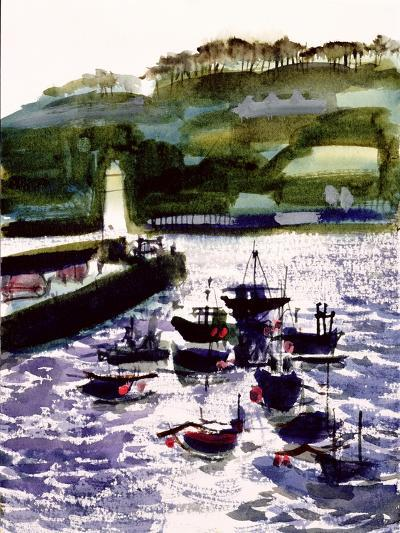 St. Ives Harbour, High Tide-Felicity House-Giclee Print