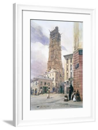 St Jacques Tower, 1834-Thomas Shotter Boys-Framed Giclee Print