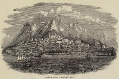 St Jago De Cuba, Sketched from the Harbour--Giclee Print