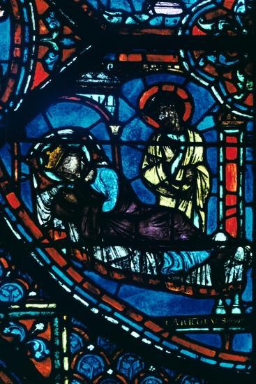 St James appears to Charlemagne in a dream, stained glass, Chartres Cathedral, France, c1225-Unknown-Giclee Print