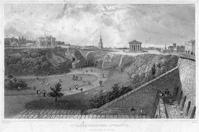 St James Cemetery, Liverpool, Looking North, 19th Century-Thomas Mann Baynes-Giclee Print