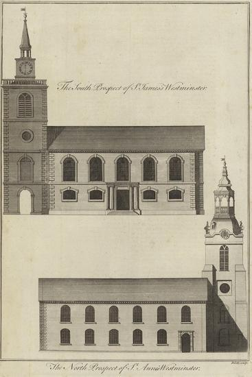 St James's Church and St Anne's Church, Westminster--Giclee Print