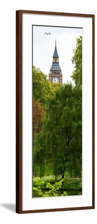St James's Park Lake and the Millennium Wheel - London - England - United Kingdom - Door Poster-Philippe Hugonnard-Framed Photographic Print