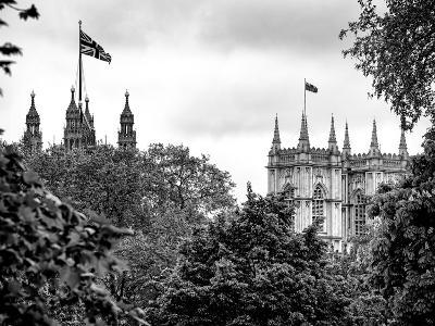St James's Park with Flags Floating over the Rooftops of the Palace of Westminster - London-Philippe Hugonnard-Photographic Print
