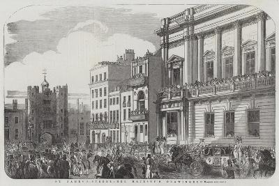 St James Street, Her Majesty's Drawingroom--Giclee Print
