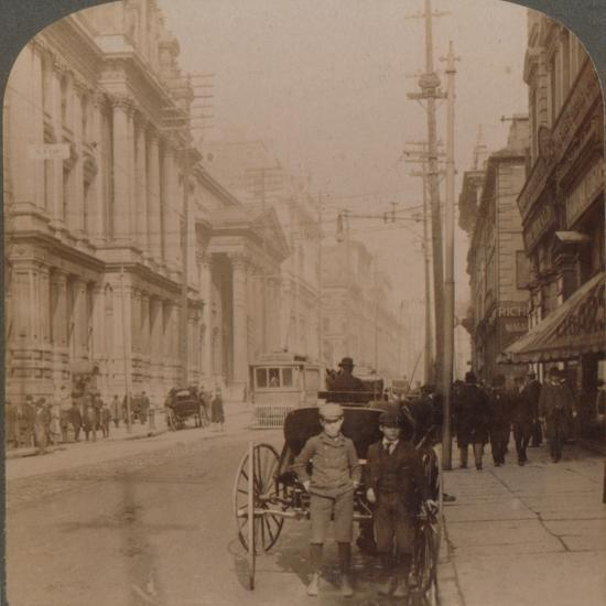 'St. James Street, Montreal, Canada', 1900-Unknown-Photographic Print
