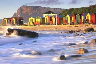 St. James with Victorian Beach Huts, South Africa-Peter Adams-Photographic Print