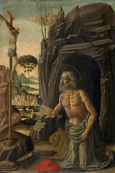 St. Jerome as a Penitent, C.1590-Jacopo Del Sellaio-Giclee Print
