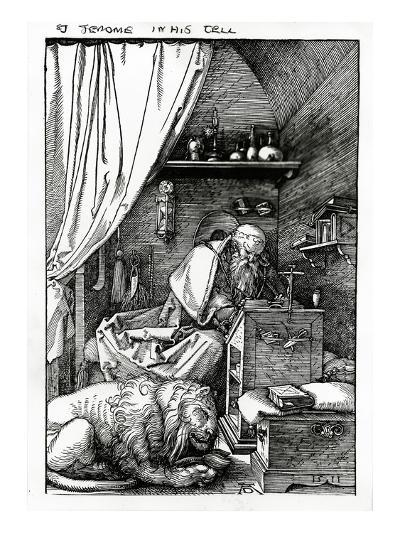 St. Jerome in His Cell, 1511 (Woodcut)-Albrecht D?rer-Giclee Print