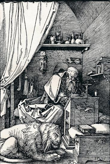 St Jerome in His Cell, 1511-Albrecht D?rer-Giclee Print