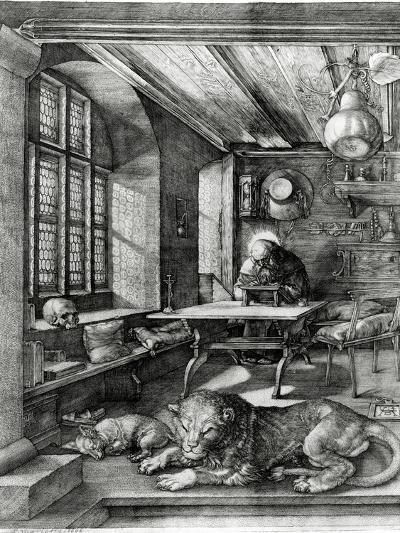 St. Jerome in His Study, 1514 (Engraving)-Albrecht D?rer-Giclee Print