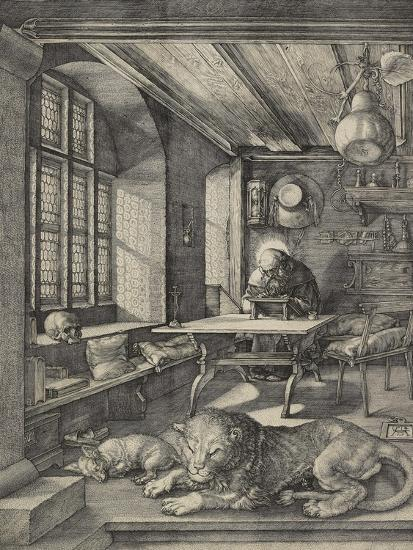 St Jerome in His Study, 1514-Albrecht D?rer-Premium Giclee Print