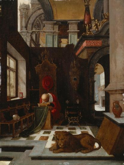 St. Jerome in His Study-Hendrick Steenwijk-Giclee Print