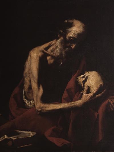 St. Jerome in Meditation-Jusepe de Ribera-Art Print