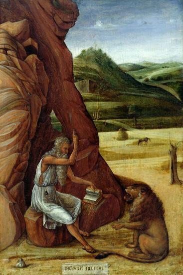 St. Jerome in the Wilderness, C.1450-Giovanni Bellini-Giclee Print