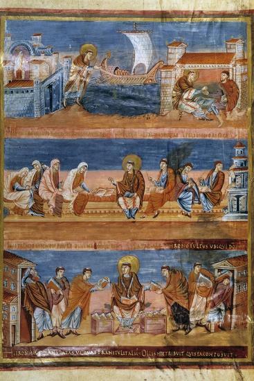 St Jerome Leaving Rome for Jerusalem - 9Th Cent. Illumination--Photographic Print