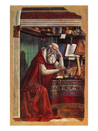 St Jerome-Gaetano Previati-Giclee Print