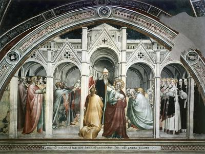 St Joachim Being Expelled from Temple, Ca 1365-Giovanni Da Milano-Giclee Print