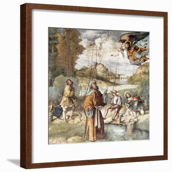 St Joachim, Detail from Life of Mary and Jesus-Boccaccio Boccaccino-Framed Giclee Print