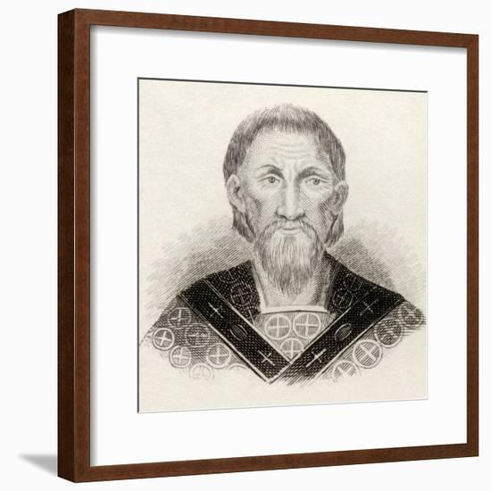 St. John Chrysostom, from 'Crabbes Historical Dictionary', Published in 1825--Framed Giclee Print