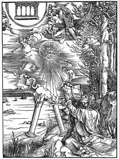 St John Devouring the Book, 1498-Albrecht Durer-Giclee Print
