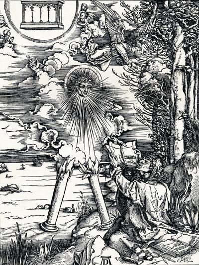 St John Devouring the Book, 1498-Albrecht D?rer-Giclee Print