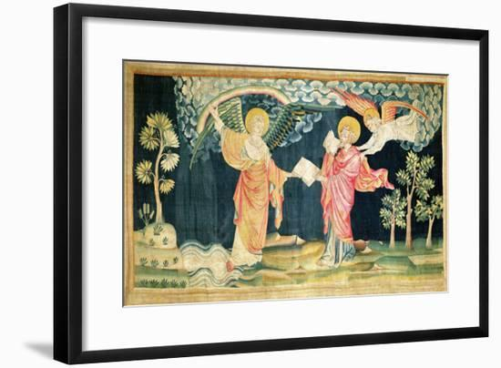 """St. John Eating the Book, No. 28 from """"The Apocalypse of Angers"""", 1373-87-Nicolas Bataille-Framed Giclee Print"""
