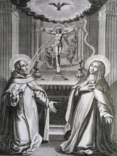 St. John of the Cross and St. Theresa of Avila--Giclee Print