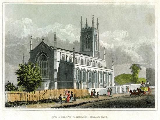 St John's Church, Holloway, Islington, London--Giclee Print
