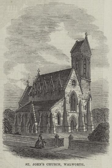 St John's Church, Walworth--Giclee Print