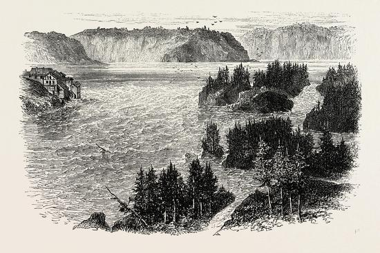 St. John's River, Frontiers of New Brunswick and Maine, North America, USA, 1870S--Giclee Print