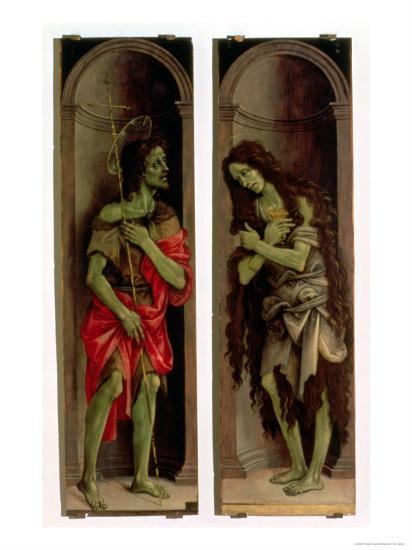 St. John the Baptist and St. Mary Magdalene-Filippino Lippi-Giclee Print
